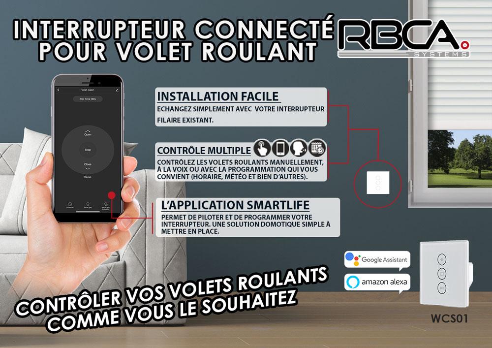 Visuel interrupteur connecté RBCA-systems WCS01
